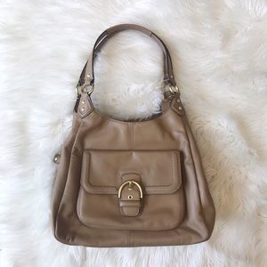 Coach | Campbell Tan Leather Hobo